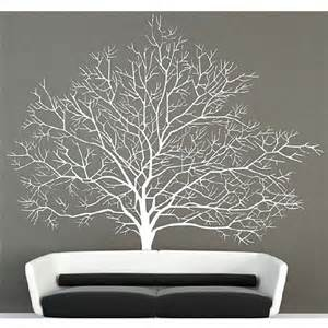 wall mural stencils white birch tree wall decal stickers branch forest modern