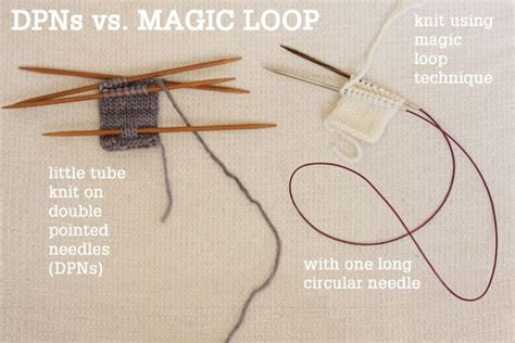 hat pattern using magic loop magic loop technique how to knit in the round using a