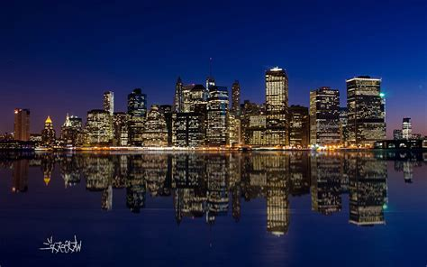 Manhattan Night Skyline, HD World, 4k Wallpapers, Images