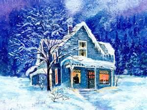 Snowed in houses wallpaper wallpaper wide hd