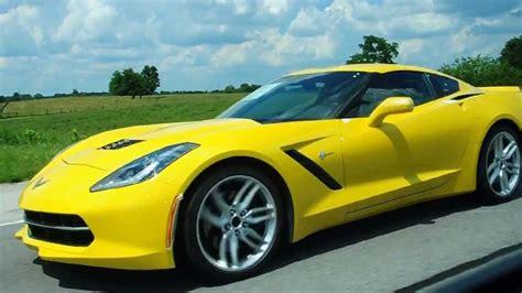 corvette c7 yellow rolling with a velocity yellow 2014 c7 corvette stingray