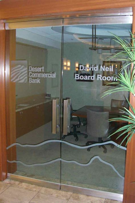 Commercial Interior Glass Doors Desert Commercial Bank Frameless Glass Doors Sans Soucie