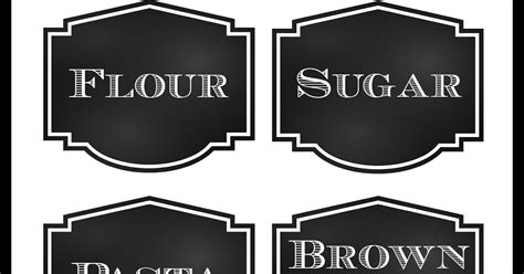 Pantry Labels Template reorganized simplicity free printable chalkboard style