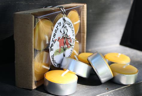 beeswax tea lights bulk set of 12 pure beeswax tea lights in gift box farmer s