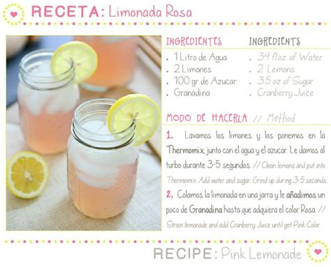 Kitchen Inspiration Pink Lemonade Receta Limonada Rosa Y Un Poquito De Inspiraci 243 N