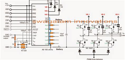 3 phase inverter circuit diagram free interfacing arduino pwm with any inverter circuit