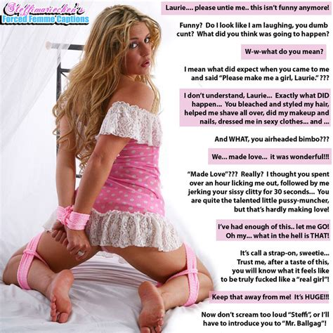 from male to bimbo sissy forced fem captions