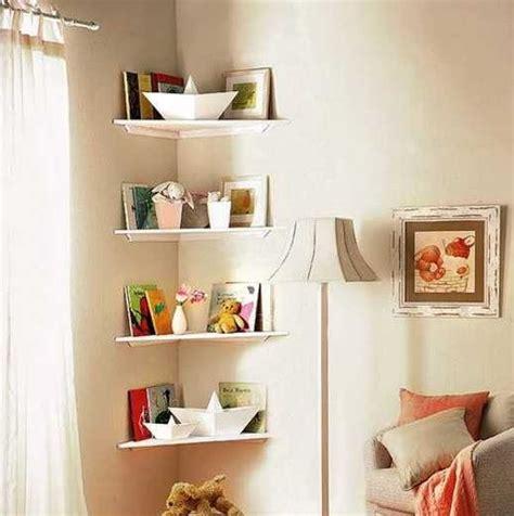 corner shelf ideas  small bedroom storage solution