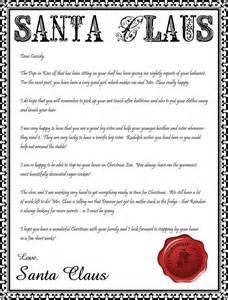 Letter from santa printable editable new calendar template site