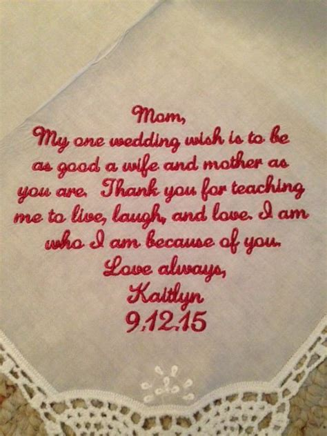 Wedding Wishes Etsy by Wedding Handkerchief Of The Gift Embroider