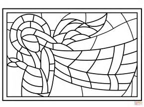 stained glass coloring book stained glass with coloring page free
