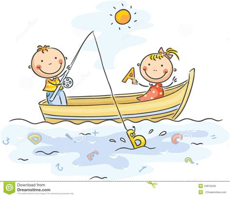little boats for kids kids fishing boat clipart