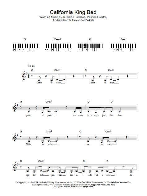 rihanna california king bed guitar tab