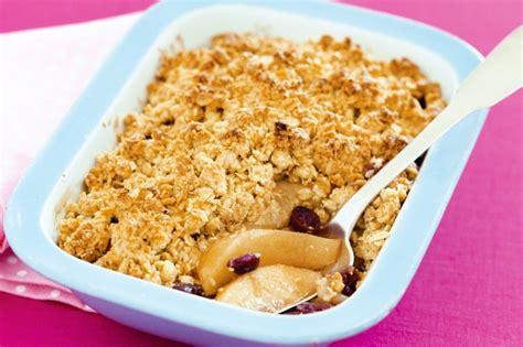 apple pear crumble apple and pear crumble recipe taste com au