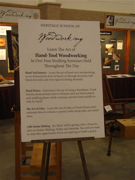 heritage school of woodworking at the kansas city woodworking show 2013 heritage