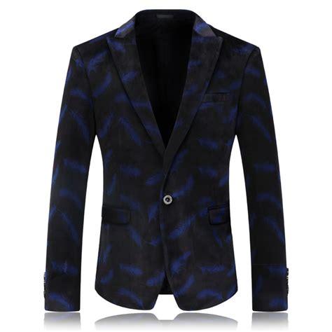 Jas Blazer Jaket Casual Style Blue blue velvet blazer mens stage wear casual jacket
