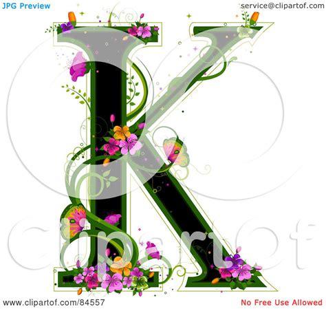 design art k k royalty free rf clipart illustration of a black capital