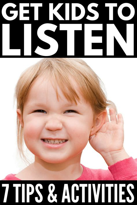 7 Tips On Looking In A by How To Get To Listen 7 Tips Listening Activities