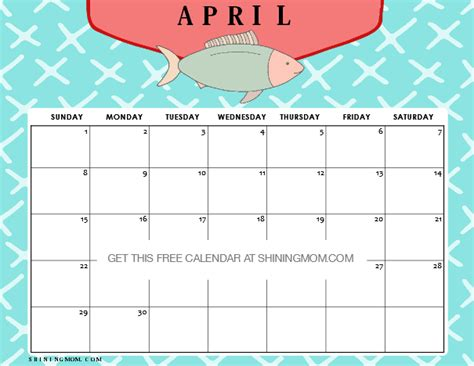 printable calendar 2018 fun free printable april 2018 calendar 12 amazing designs