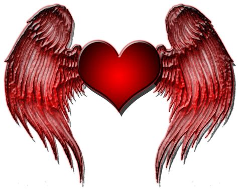 heart wings tattoo rennisance design wings