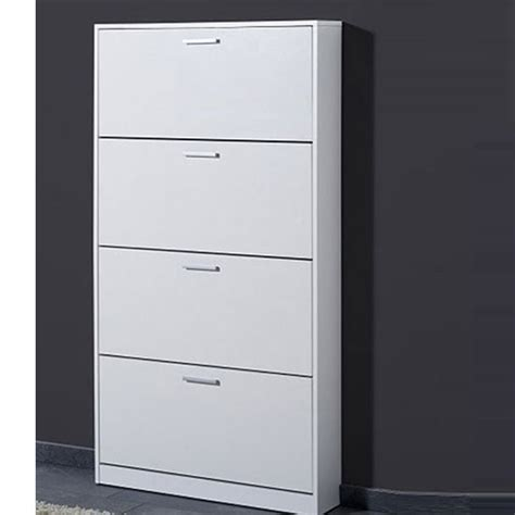 Storage Cabinet White by Maximas 4 Tier Shoe Storage Cabinet In White Buy Modern