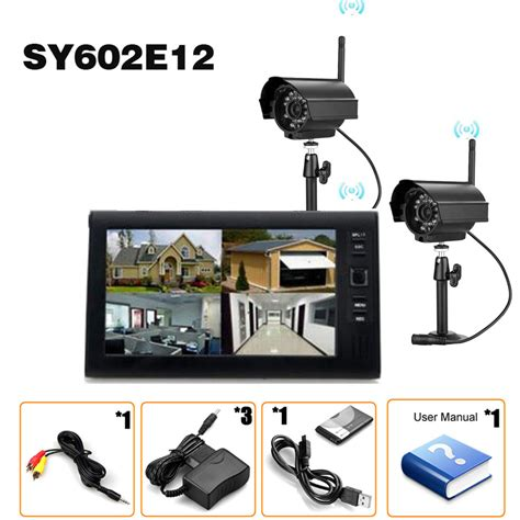 2 4ghz 4ch cctv dvr wireless home security system