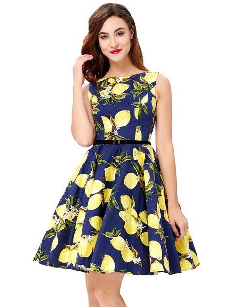 retro swing dresses blue lemonade retro swing dress 1950sglam