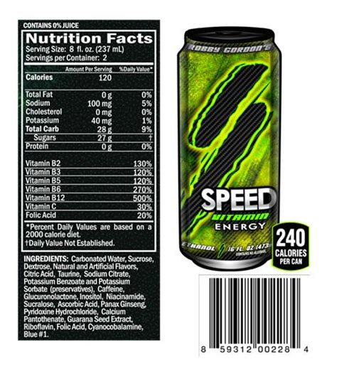 energy drink vitamins product spotlight speed ethanol vitamin energy drink