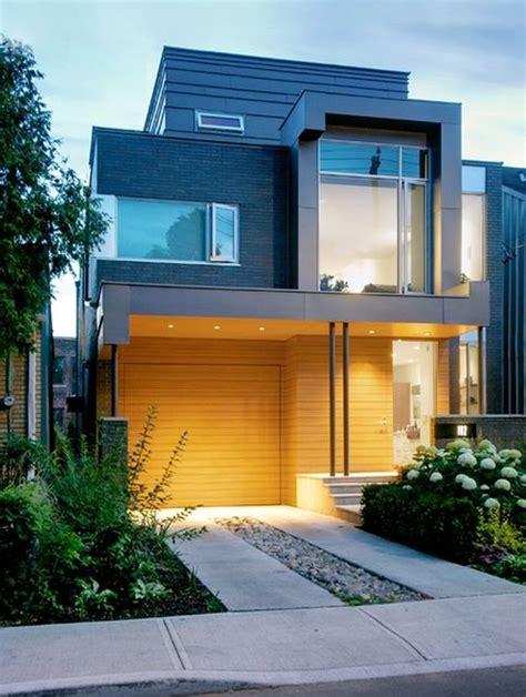 Duplex Floor Plans For Narrow Lots by Fachada De Casas Pequenas E Modernas 25 Lindas Ideias
