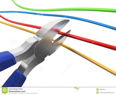 nippers cutting wire stock illustration illustration of