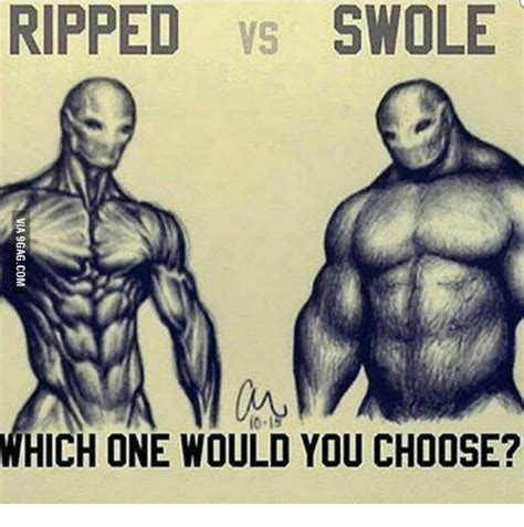 Which Would You Chosen by Ripped Vs Swole Which One Would You Choose Swole Meme