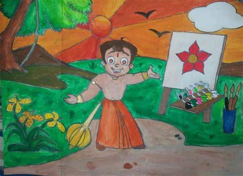 painting chota bheem wins rangeela chhota bheem send a slogan contest