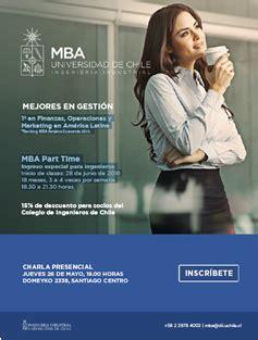 Mba Universidad De Chile Precio by Mba Mejores En Gestia N Universidad De Chile Colegio De