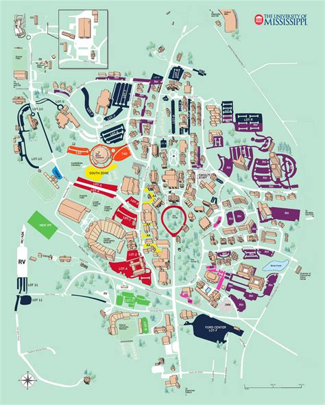 ole miss cus map gameday parking
