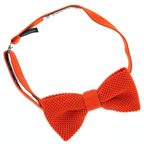 Knit Bow Tie knit orange bow tie the house of ties