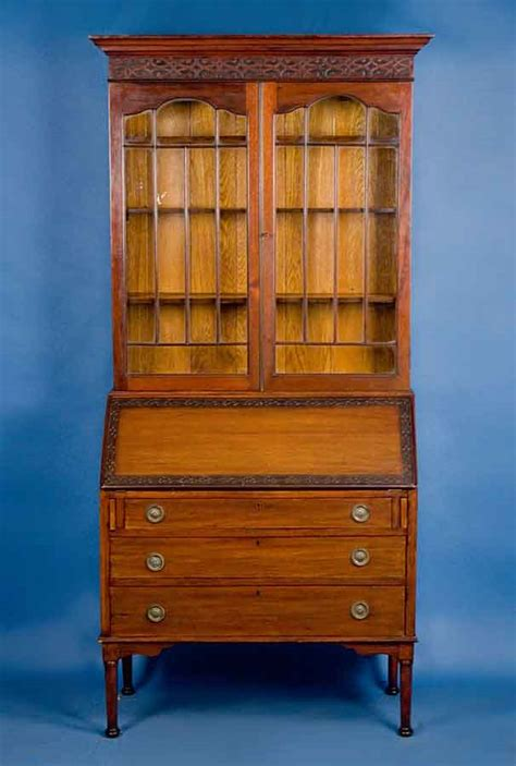 Antique English Mahogany Bureau Bookcase For Sale Vintage Bookshelves For Sale