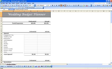 Wedding Budget Guidance by Useful Wedding Spreadsheets Plan Your Wedding