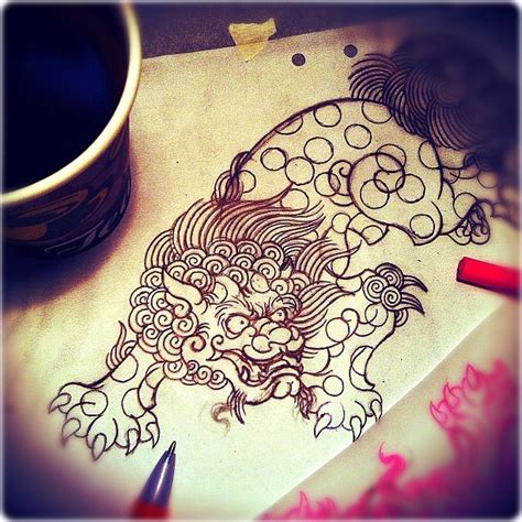traditional foo dog tattoo designs 121 best images about foo on foo