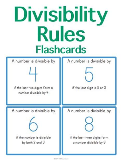 printable quiz on divisibility rules 17 best images about math stem resources on pinterest