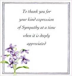 floral thank you sympathy cards pack of 10