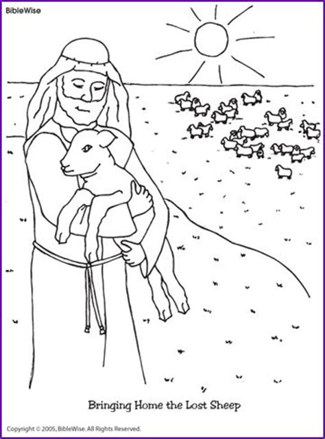 coloring page the lost sheep jesus and the lost sheep coloring page kids korner