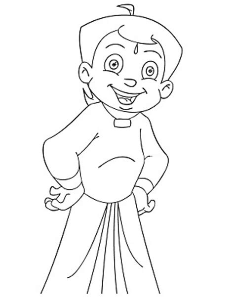 kids page chota bheem coloring pages for kids