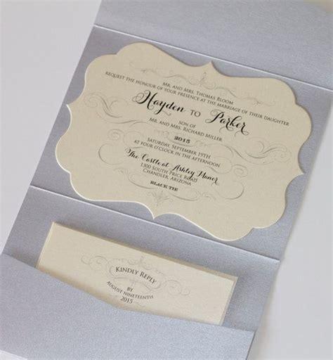 dirt cheap wedding invitations hayden die cut glitter wedding invitation pocket fold