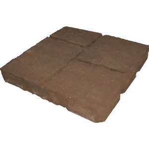 Lowes Patio Pavers Shop Four Cobble Tranquil Patio Common 16 In X 16 In Actual 15 7 In X 15 7 In At