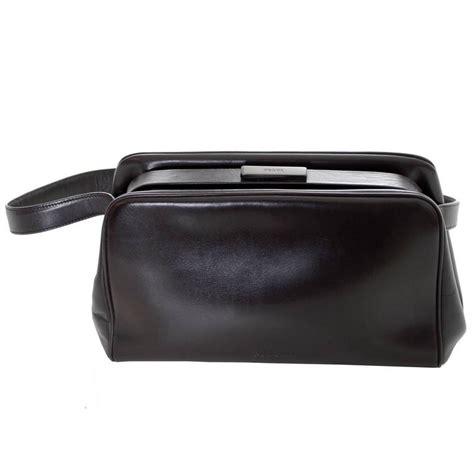 Prada Cocoa Leather Frame Top Medium Shoulder Bag by Vintage Prada Handbag Chocolate Brown Leather Shoulder Bag