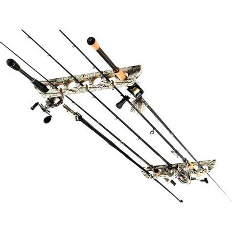 Fishing Rod Rack Horizontal by Organized Fishing 9 Capacity Wooden Ceiling Horizontal Rod