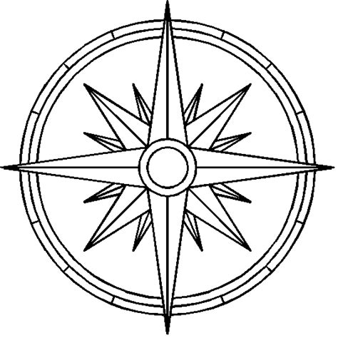 line drawing compass clipart best compass line art cliparts co