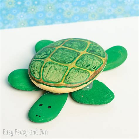 Turtle Paper Plate Craft - rock turtle craft easy peasy and