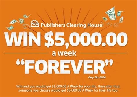 Who Won Publishers Clearing House 5000 A Week For Life - what is a publishers clearing house giveaway number pch autos post
