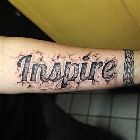 image gallery letters tattoo
